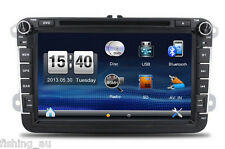 "2DIN 8"" Car DVD player with GPS touch screen steering wheel control stereo USB"