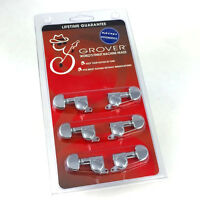 Grover Chrome Mini Rotomatic Tuners/Machines for 3x3 Headstock Guitar 205C