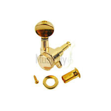 6 Inline Gold Guitar String Locking Tuners Tuning Pegs Machine Heads Right Hand