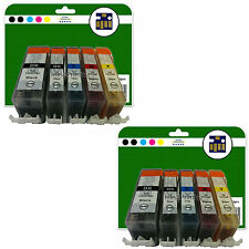 10 Ink Cartridges for Canon Pixma MP630 MP640 MP980 MP990 non-OEM 520/521