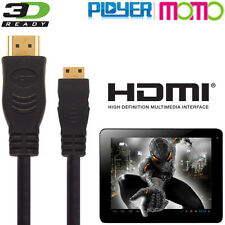 Ployer Momo 7, 8, 9, 11, 12, 15, 19, 20 Android Tablet HDMI Mini to TV 3m Cable