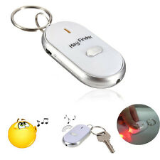 LED Keychain Anti-Lost Key Finder Find Locator Whistle Beep Sound Control Torch