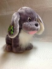 Sugar Loaf Plush Grey Dog With Green Bow from 1998