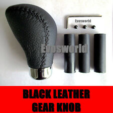 BLACK LEATHER CAR GEAR SHIFT LEVER KNOB ALFA ROMEO 159 SPORTWAGON