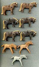Playmobil -- Pony -- caballos -- figuras --- colección -- 9 piezas --