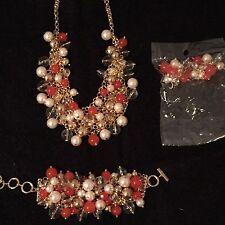 Amrita Singh Set Capri Coral, Pearls, Resin, and Brass