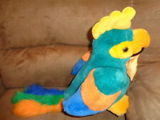 Parrot Green Colorful Stuffed Plush 1991 VTG Bird T L Toys AS IS Does not Talk!