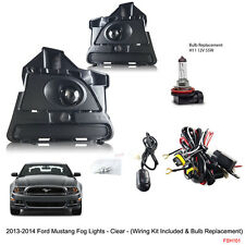 New 2013 - 2014 Ford Mustang Clear Fog Lights Switch Bulbs Wiring Kit Included