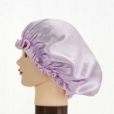 100% Pure Silk Sleeping Hats Ladies Hair Care Wrap Stretch Night Cap Soft Bonnet