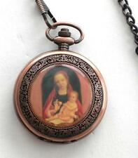 NEW Beautiful High Quality  MADONNA With CHILD Deluxe Pocket  Watch Unique Gift