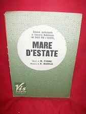 BARILE/FIORE Mare d'Estate Disco per l'Estate 1966 Spartiti