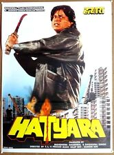 "India Bollywood 1998 Hatyara 28"" x 38"" poster Mithun Chakraborty"