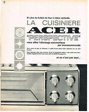 PUBLICITE   1967   ACER  cuisinière allumage automatique