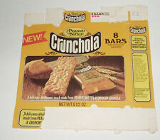 1976 Peanut Butter Crunchola Granola Bars box NEW!