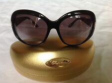SALE - CHOPARD - black oval sunglasses with crystals - occhiali / lunettes