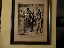 """Honore Daumier Original Antique Lithograph; """"Ami De Personne"""" (Nobody's Friend)"""