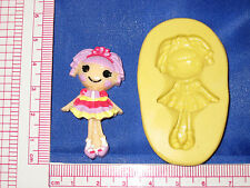 LalaLoopsy Silicone Push Mold Resin Clay Candy Bookscraping A485