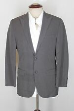 New Hugo Boss Queen Slim fit blazer sport coat 38R Black Gray Linen Cotton #504