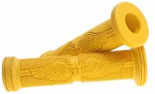"GT BMX - Wing Handlebar Grips Old Mid School BMX Park Bike Bicycle 7/8"" - YELLOW"