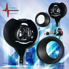 For 2005-2015 Nissan Frontier w/ Metal Chrome Bumper Fog Lights Full Kit SET