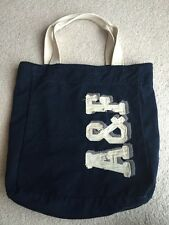 ABERCROMBIE & FITCH Navy Canvas Tote EUC