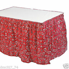 Cowboy Western Farm Ranch Country Decoration BANDANA PRINT Table Skirt