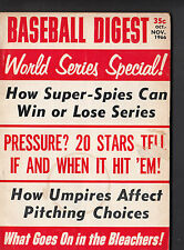 November 1966 Baseball Digest Magazine World Series Special