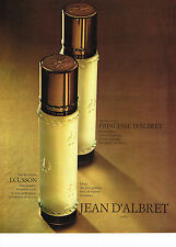 pûblicité advertising  1970   JEAN D'ALBRET  eau de toilette ECUSSON
