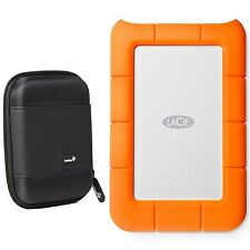 LaCie Rugged Thunderbolt & USB 3.0 1TB 9000488 + Ivation Compact Portable Case