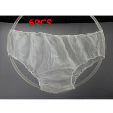 6Pcs Women Ladies White Disposable Non-Woven Briefs Panties Underwear Hot sale