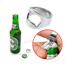 1x New Stainless Steel Finger Ring Bottle Opener Bar Beer Tools