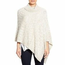 NEW EILEEN FISHER Funnel Neck Organic Cotton Alpaca Poncho Sweater Top One Size