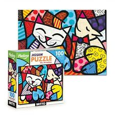 ROMERO BRITTO JIGSAW PUZZLE 100 PCS  CAT & DOG  ** NEW ** SEALED
