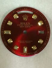 Rolex men's Day-Date candy  red  8+2 custom diamond  dial 2-T