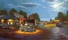 Dave Barnhouse Route 66 Motorcyle print 23.75 x 13.75