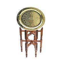 Marokkanischer Tisch orientalischer Messing Beistelltisch Arabischer Teetisch 40