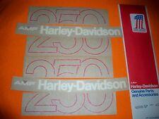 HARLEY AERMACCHI AMF NOS 1978 SS250 SX250  black TANK DECAL SET 60989-78P