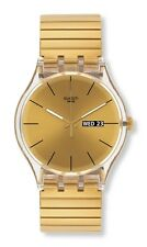 "SWATCH NEW GENT ""DAZZLING LIGHT (Bandlänge: Large)"" (SUOK702A) NEUWARE"