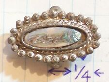RING OVAL SILVER BALLS AROUND RIM MIRROR LIKE FACE CARNIVAL GLASS LIKE FINISH AN