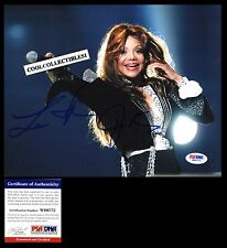 LATOYA JACKSON IN PERSON SIGNED 8X10 COLOR PHOTO PSA/DNA COA