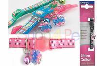 Ancol Designed for Kittens Cat Collars with Bell & Charm, with Snap Away Buckle