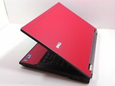 "#121 Dell Latitude E6410 14"" Red Laptop Intel i5 2.40GHz 4GB 250GB Windows 7"