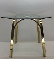 Roger Sprunger for Dunbar Brass and Glass End Table 1970s Mid Century Modern