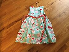 Girls Jelly the Pug boutique dress size 12 sleeveless