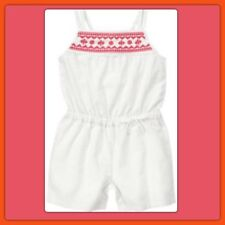 NWOT Girls 4T Gymboree SEASHELL CORAL cotton/linen 1pc ROMPER outfit OFF WHITE