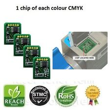 4 COMPATIBLE TONER CHIPS FOR USE IN OKI C9600/C9650/C9800/C9850 PRINTERS EMEA