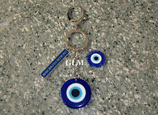 Feng Shui = Evil Eye With Om Mani Padme Hum Keychain