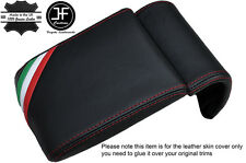RED STITCH ITALIAN FLAG LEATHER ARMREST COVER FITS ALFA ROMEO GIULIETTA 10-16