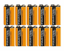10 DURACELL PROCELL INDUSTRIAL BATTERIES  BLOCK ALKALINE BATTERY 9v PP3 MN1604