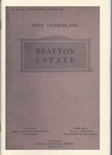 """For Sale"" Brayton (Hall) Estate Nr Aspatria Cumberland. 1924 (Paperback Copy)"